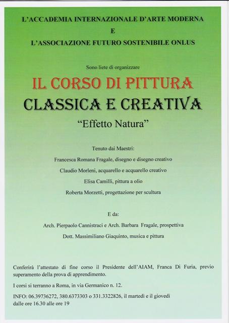 E' partito il nuovo Corso di Pittura Classica e Creativa 2016 organizzato dall'Accademia Internazionale d'Arte Moderna!!!