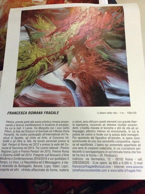 """""""L'Albero della Vita"""", quadro dell'artista Fragale pubblicato e recensito sullo storico Annuario d'Arte Moderna, sezione artisti contemporanei 2017"""