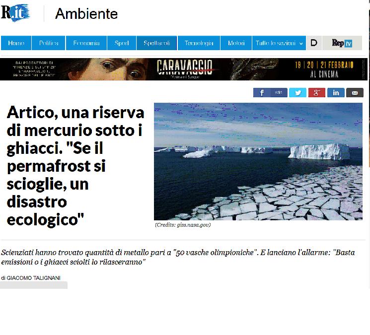Artico, una riserva di mercurio