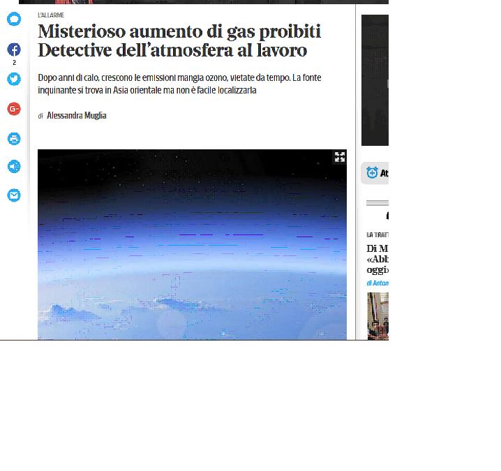Misterioso aumento di gas proibiti.
