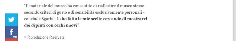 Il Museo di Capodimonte secondo Vittorio Sgarbi