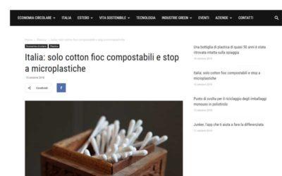 Italia: solo cotton fioc compostabile e stop a microplastiche
