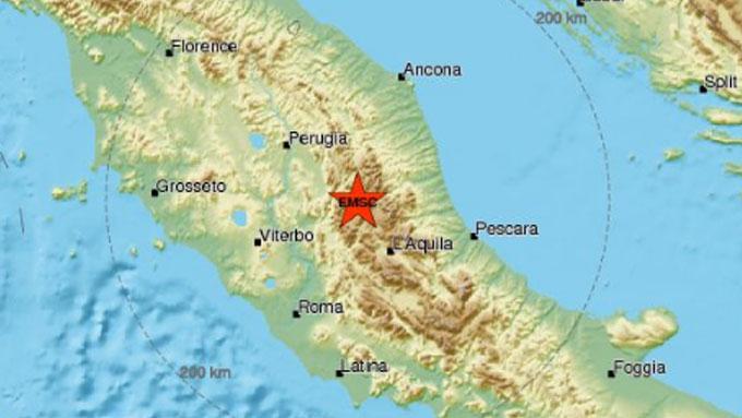 Rieti, terremoto