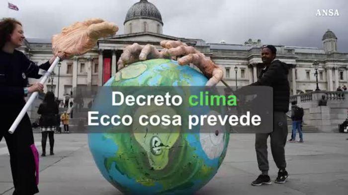 Ecco che cosa prevede il decreto clima – Economia