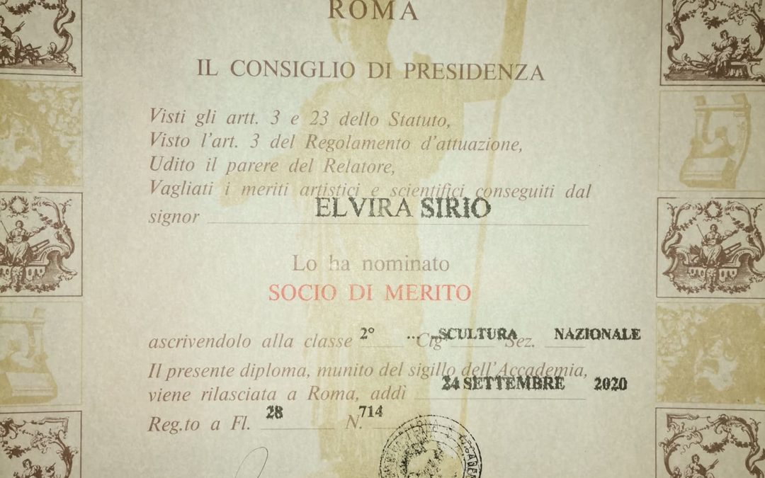 L'Effettista Elvira Sirio è entrata in Accademia!